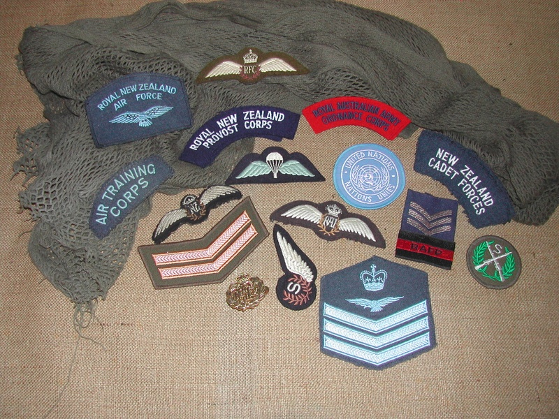 A collection of insignia